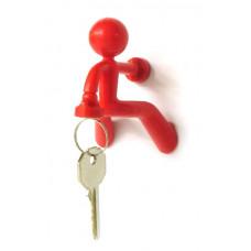Magnetický držiak kľúčov Peleg DESIGN Key Pete, červený