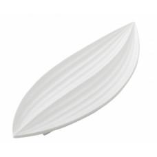 Miska v tvare listu , Leaf, biela, 51cm