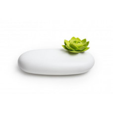 Multifunkčné púzdro Qualy Lotus Pebble Box, biele-zelené