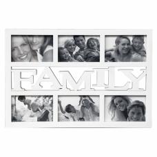 Multirám na 6 fotiek. Family, 6x 10x15cm