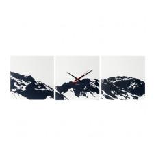 Nástenné hodiny 5483 Karlsson Alpy, 3x 35x35cm