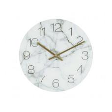 Nástenné/ stolné hodiny KA5616wh, Karlsson Marble small light, 17cm