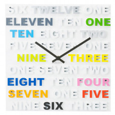 Nástenné hodiny Karlsson 5220mc, ONE TWO THREE 35cm