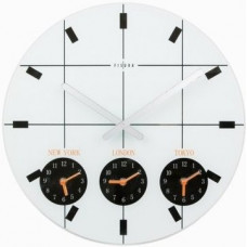 Nástenné hodiny Fisura,  World Time 40 cm