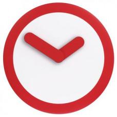 Designové nástenné hodiny 2615ro Nextime Stripey red 25cm