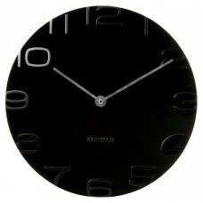 Nástenné hodiny Karlsson 5311BK, On The Edge, 42 cm