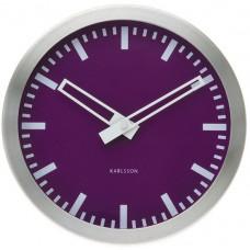 Nástenné hodiny Kalrsson Splash purpurové 25cm