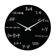 Nástenné hodiny pre matematikov sklenené 35cm