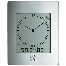 Nástenné hodiny DCF TW 240 x 285 cm, strieborná 29cm