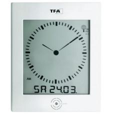 Nástenné hodiny DCF TW 200 x 265 mm, biela