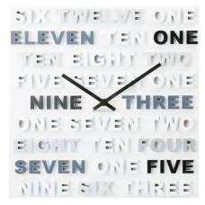Nástenné hodiny Karlsson 5220GY, ONE TWO THREE 35cm
