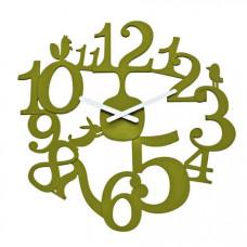 Nástenné hodiny Koziol PI:P olivová, 45cm