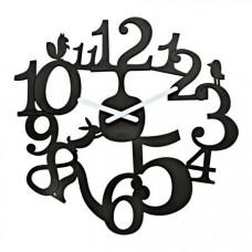 Nástenné hodiny PI:P Koziol, čierna, 45cm