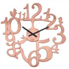 Nástenné hodiny Koziol PI:P medená, 45cm