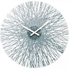 Nástenné hodiny Koziol SILK transparentná antracitová, 45cm