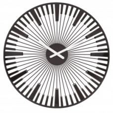 Nástenné hodiny PIANO, Koziol, čierna, 45cm