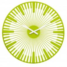 Nástenné hodiny PIANO, Koziol, horčicová, 45cm