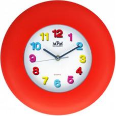 Nástenné hodiny MPM, 2809.20 - červená, 30cm