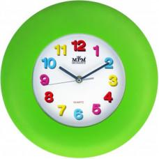 Nástenné hodiny MPM, 2809.40 - zelená, 30cm