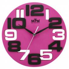 Nástenné hodiny MPM, 3064.23 - ružová, 25cm