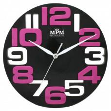 Nástenné hodiny MPM, 3064.90 - čierna, 25cm