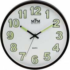 Nástenné hodiny MPM, 3219.52 - hnedá tmavá, 30cm