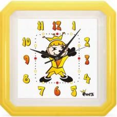 Nástenné hodiny MPM, 2418.10 - žltá, 34cm