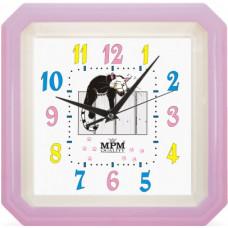 Nástenné hodiny MPM, 2418.24 - fialová, 34cm