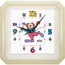 Nástenné hodiny MPM, 2418.00 - biela, 34cm