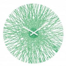Nástenné hodiny Koziol SILK transparentná mätová, 45cm