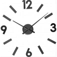 Nalepovacie nástenné hodiny 21839 Balvi Numbers čierne 60cm