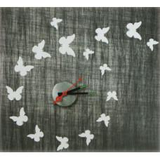 Nalepovacie nástenné hodiny, Motýle, 50cm