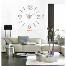 Nalepovacie nástenné hodiny, HM01S, 60cm