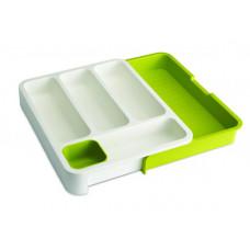 Priehradky na príbory JOSEPH JOSEPH DrawerStore ™, biele / zelen