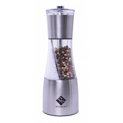 Nerezový kombinovaný mlynček na soľ a korenie, Renberg