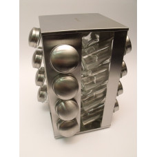 Nerezový stojan na koreničky Kinghoff 4007, 17-dielný