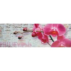 Obraz na plátne 30x90cm RUŽOVÁ ORCHIDEA ružovo-šedý