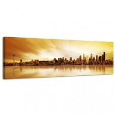 Obraz na plátne Panoráma, Seattle, 158x46cm