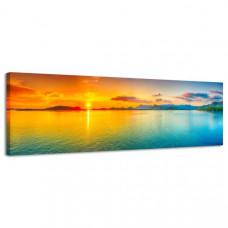 Obraz na plátne Panoráma, Sunset, 158x46cm