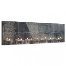 Obraz na plátne Panoráma, Sviečky, 36x118cm