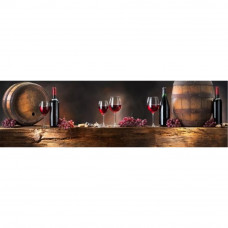 Obraz na plátne Panoráma Wood & Wine Red, 158x46cm