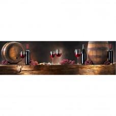Obraz na plátne Panoráma, Wood & Wine Red, 118x36cm