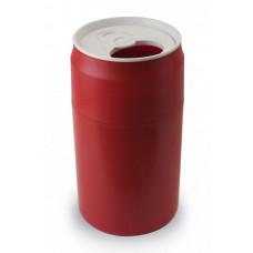 Odpadkový kôš Qualy Capsule Can, červený