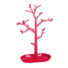 PI: P L držiak strom na drobnosti, malinová ozdoby, transp. červ