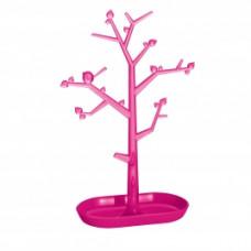 PI: P L držiak strom na drobnosti, ružová / ozdoby transp. ružov