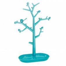 PI: P L držiak strom na drobnosti, tyrkys, ozdoby transp. tyrkys