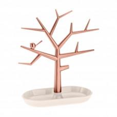 PI: P držiak strom na drobnosti, šedobéžová / medená