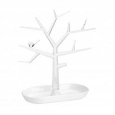 PI: P držiak strom na drobnosti, biela/ číra