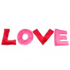 Plyšový vankúš LOVE sada 4 ks