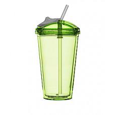 Pohár so slamkou SAGAFORM Fresh Smoothie Mug, 450ml, zelený